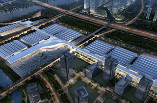 广东潭洲国际会展中心  广东潭洲国际会展有限责任公司 负责全面运营的会展中心 是一个集展览、会议、餐饮等多功能为一体的会展综合体。它是全中国唯一一个能做到每平米承重10吨的专业展览馆。GICEC规划总用地面积约30万平方米,总计容建筑面积约20万平方米。首期工程的展厅部份于2016年8月建成,并于9月正式投入使用;首期配套部份(包括:会议中心和登陆厅)将于2017年9月建成并投入使用。