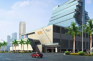 """南丰国际会展中心  南丰国际会展中心(简称NICEC),是香港南丰集团投资内地的重大项目,总投资额超过30亿元,是一座集国际五星级酒店与完善商务配套于一体的现代化专业展览馆。项目位于广州市琶洲会展商圈核心地带,占地面积32,836平米,规划总建筑面积150,089平米,毗邻世界第一展""""中国进出口商品交易会""""所在地——广州国际会展中心,交通便捷。 -"""